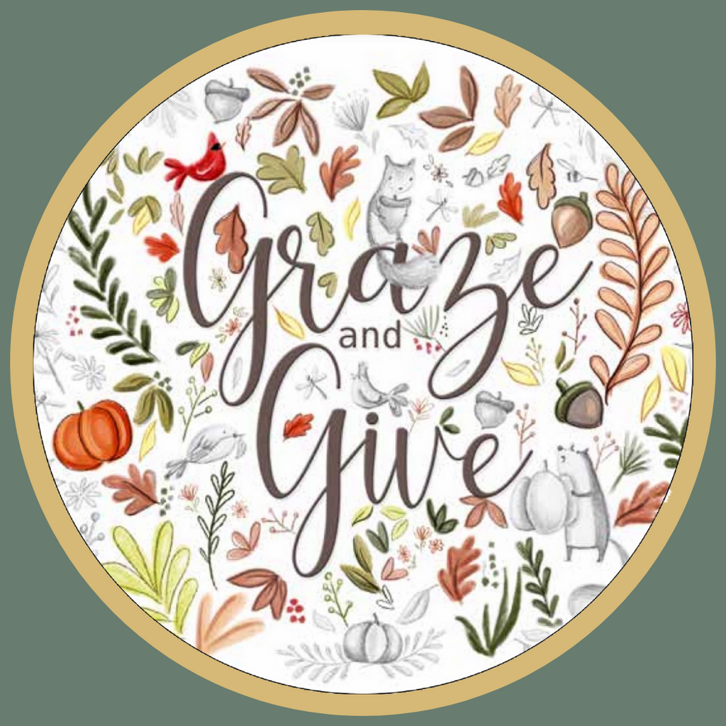 graze and give fundraiser event logo