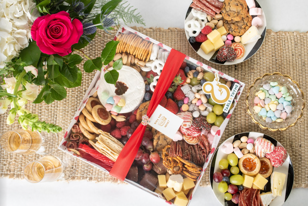 table and thyme valentine's day graze box