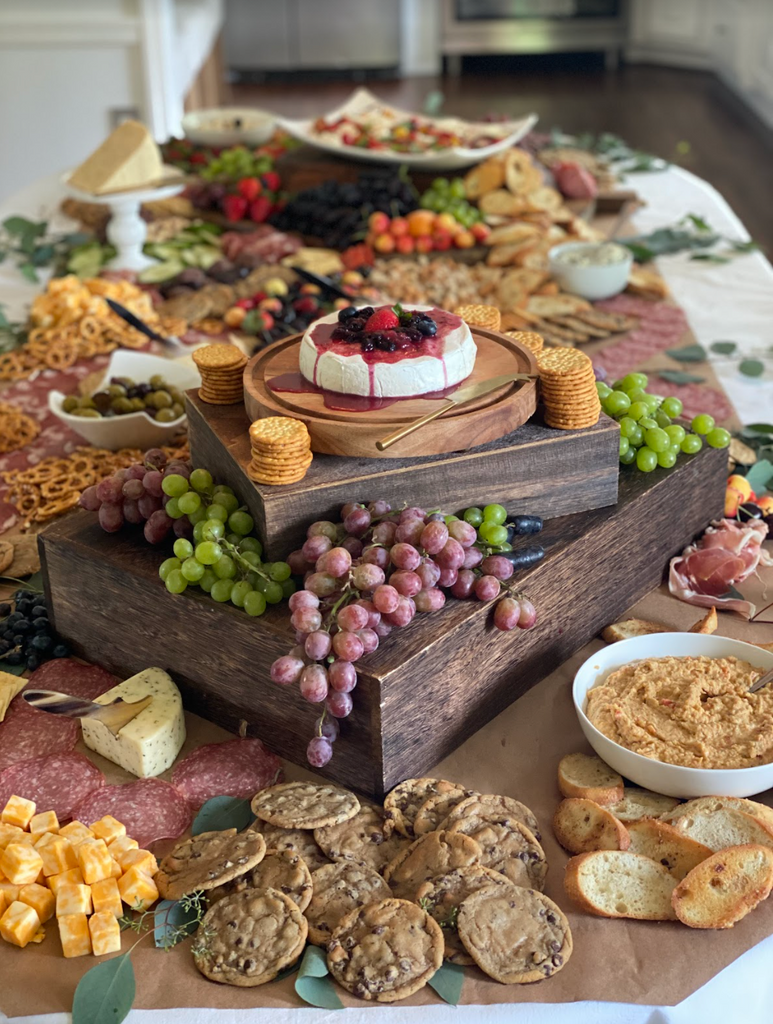 Catering a High-End Lunch Event, Grazing Tablescape.