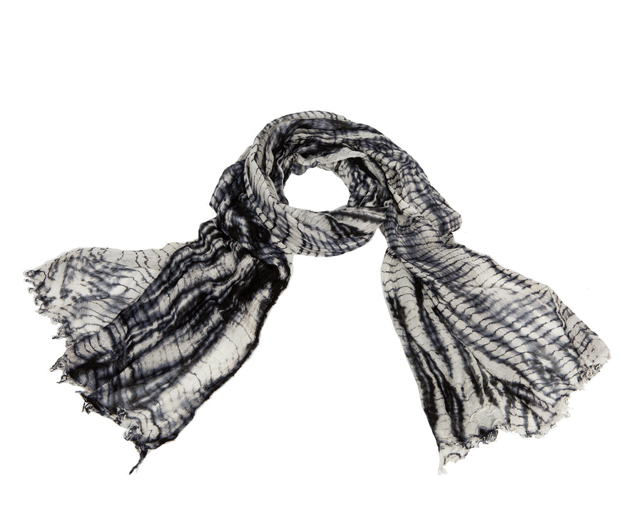 Grey + Black Scarf