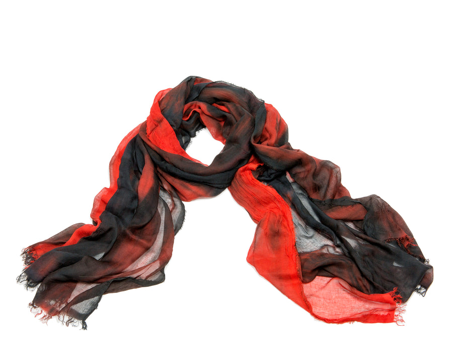 Red + Black Scarf