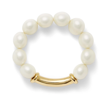 White Pebble Pearl Bracelet