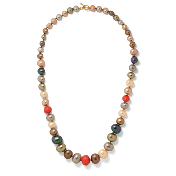 Multi Hued Pebble Pearls