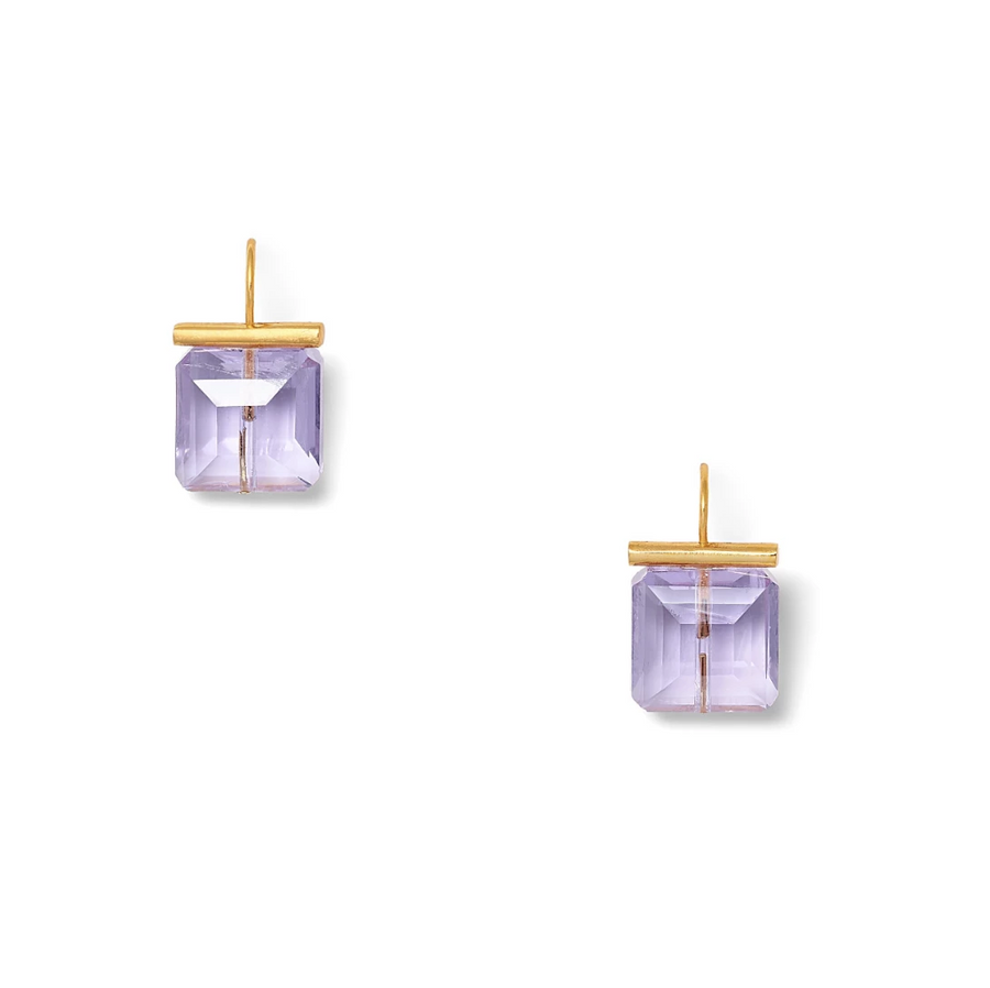 Swarovski Crystal Amethyst Earrings