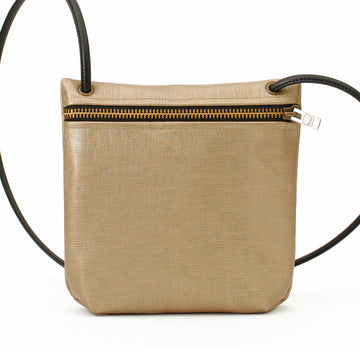 Tan Metallic Medium Crossbody