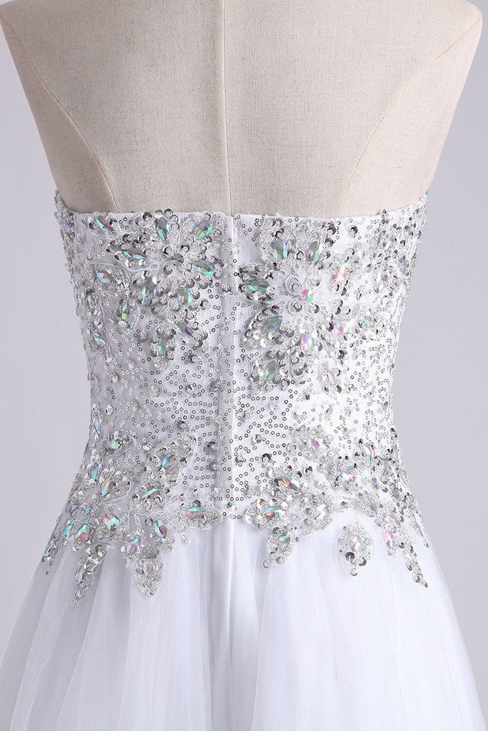 Sweetheart Homecoming Dresses A Line Short/Mini Beads & Sequins