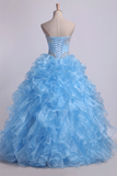 Sweetheart Quinceanera Dresses Ball Gown Organza With