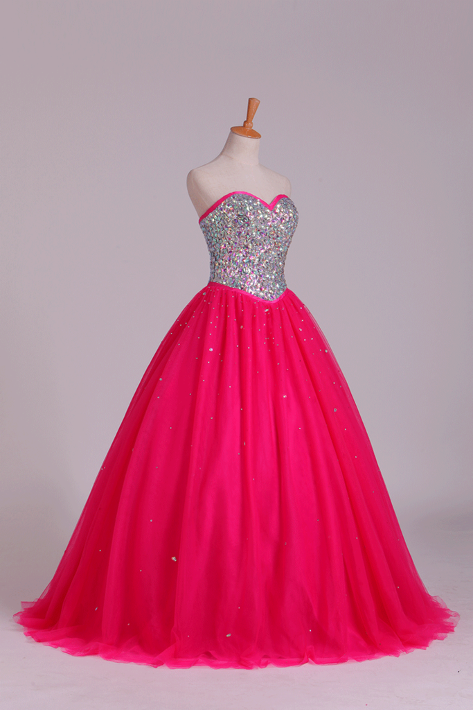 Quinceanera Dresses Sweetheart Ball Gown Floor-Length Beaded
