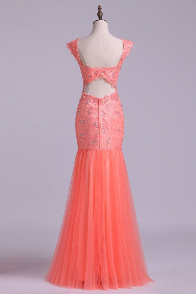 Off The Shoulder Prom Dresses Mermaid Floor Length With Beading