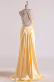Shining Evening Dresses Halter Beading/Sequins Sheath Floor