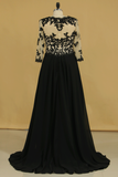 Plus Size Black Mother Of The Bride Dresses V Neck A Line Chiffon With Applique