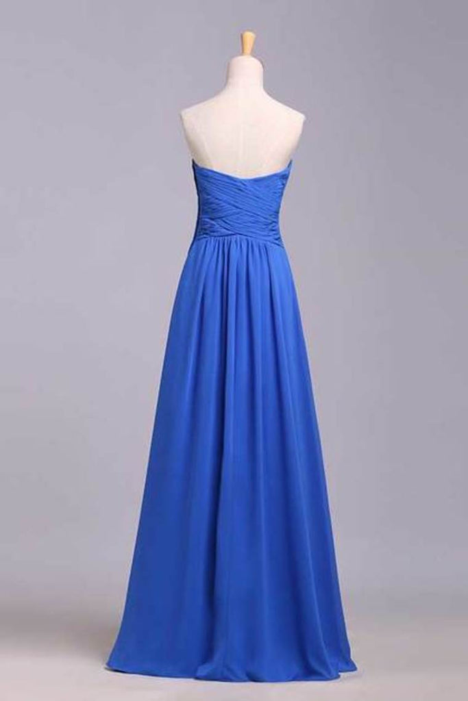 Simple Prom Dresses Sweetheart Ruffled Bodice A Line Floor Length