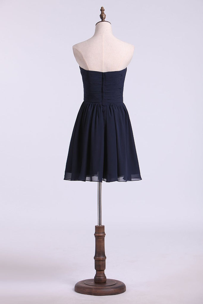 New Arrival Sweetheart Homecoming Dress Ruffled Short/Mini