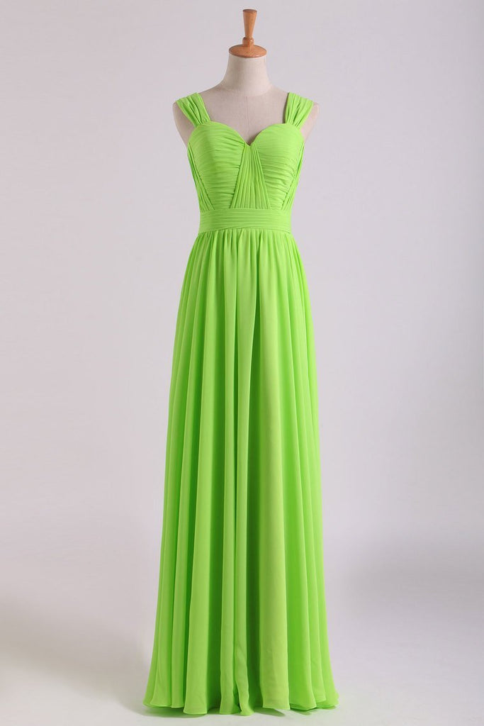 Prom Dresses Off The Shoulder A Line Chiffon Floor Length With Ruffles