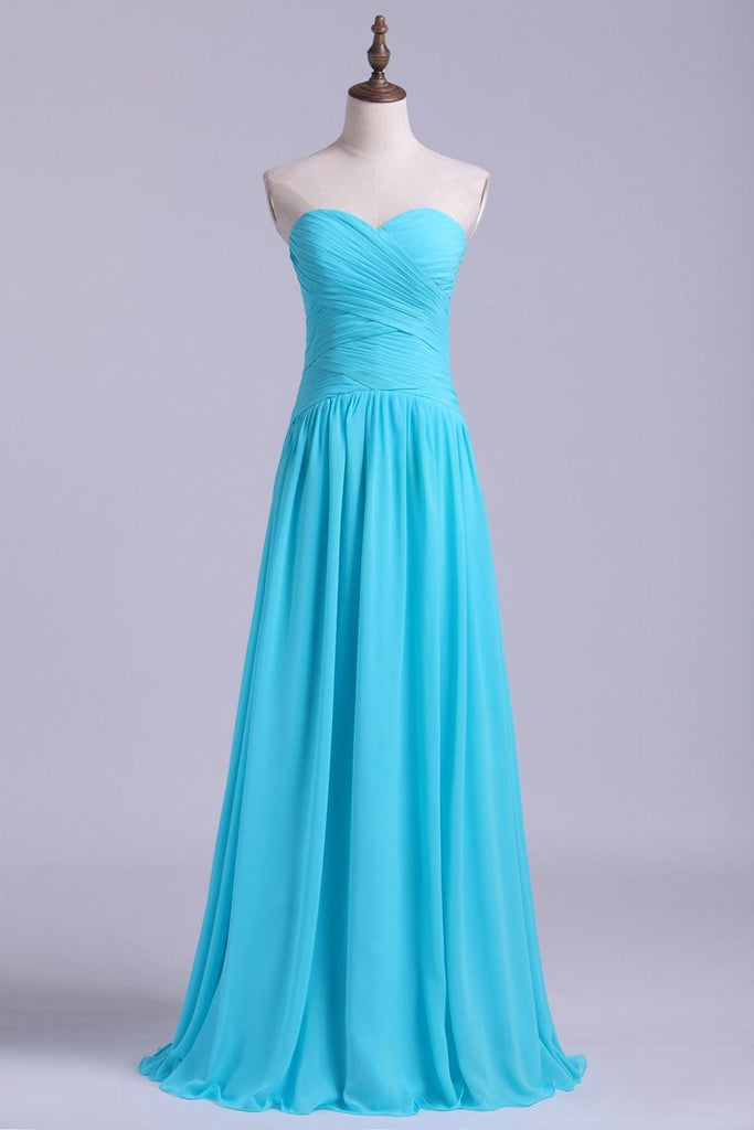 Bridesmaid Dresses/Prom Dresses A-Line Sweetheart Floor-Length Chiffon