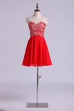 Sweetheart A Line Short/Mini Homecoming Dresses Lace &