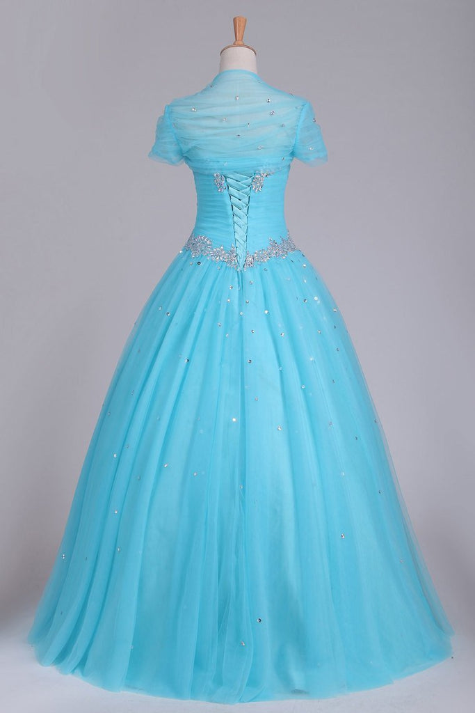 Quinceanera Dresses Sweetheart Tulle With Beads And Ruffles Ball