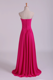 Sweetheart Bridesmaid Dresses A-Line Floor Length Chiffon