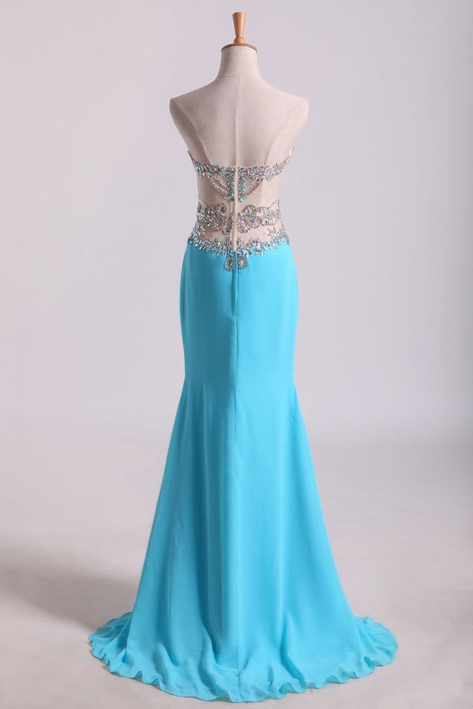 Sweetheart Prom Dresses A Line Chiffon With