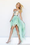 High Low Skirt A Line Sweetheart Beaded Bodice Prom Dresees New