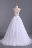 Wedding Dresses Sweetheart Ball Gown Tulle With Beading And