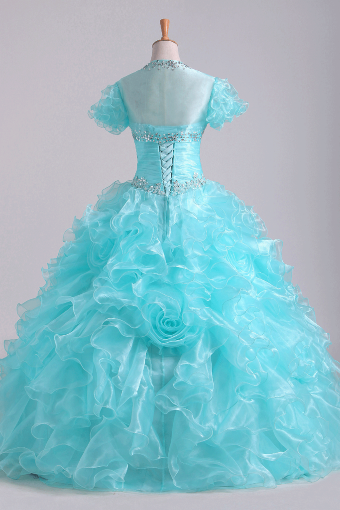 Quinceanera Dresses Fabulous Sweetheart Ruffled Bodice Floor