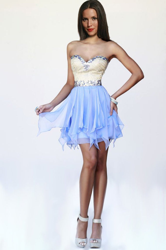 Stunning Homecoming Dresses Sweetheart A Line Short/Mini With Beads New
