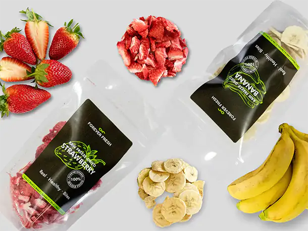 freeze-dried snacks and ingredients