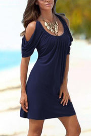 Allovely Cold Shoulder Slim Dress