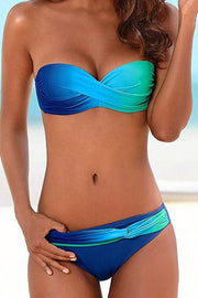 Allovely Gradient Color Strapless Bikini---侵权