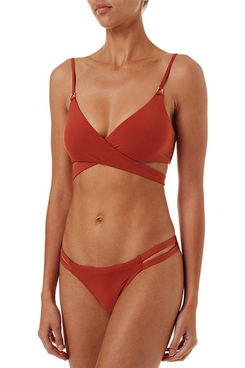 Allovely Cross Bandage Bikini Set
