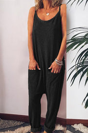 Allovely Spaghetti Straps Harem Jumpsuit