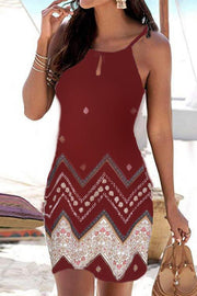Allovely Bohemia Print Holiday Dress