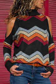 Allovely Cold Shoulder Casual Blouses