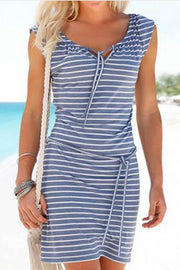 Allovely Striped Strappy Casual Dress