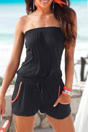 Allovely Off Shoulder Chest Romper