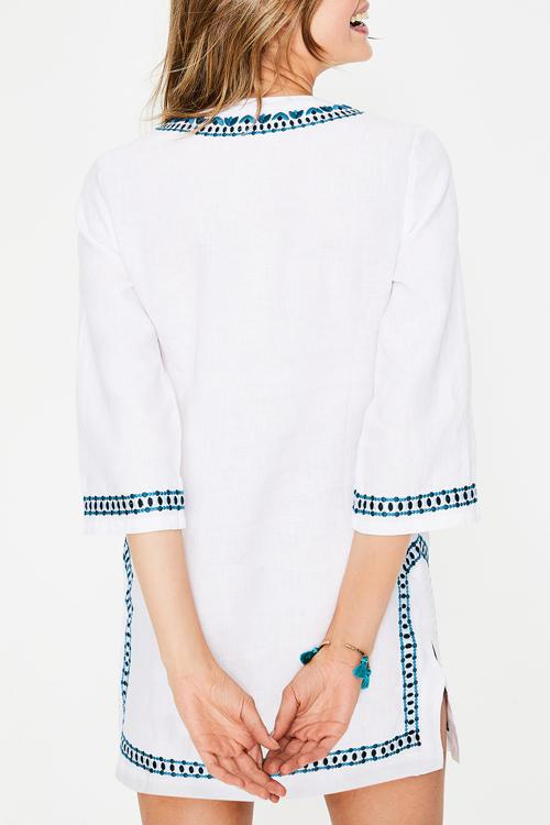 Allovely V-Neck Embroidery Cover Up