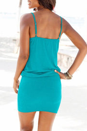 Allovely Plunging Neckline Mini Dress