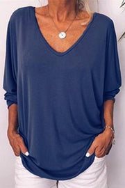 Allovely Back Button Bat Sleeve Blouse