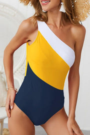 Allovely One Shoulder Backless Swimsuit