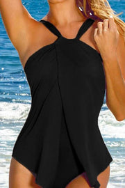 Allovely Halter Irregular One Piece Tankini
