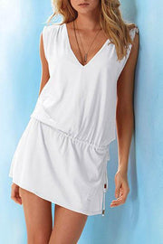 Allovely V-Neck Halter Beach Dress