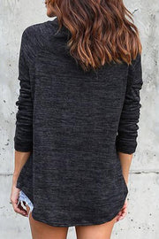 Allovely Turtleneck Drawstring Sweatshirt