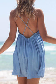 Allovely Open Back Sling A-line Dress