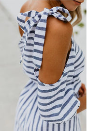 Allovely Blue Sky Comfy Stripe Romper