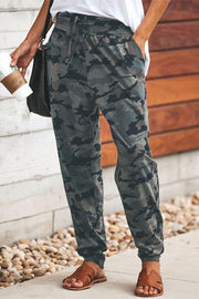 Allovely Camo Lace-up Loose Pants