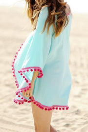 Allovely Pom Pom Beach Cover Up