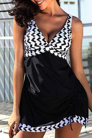 Allovely Chevron Tankini Set