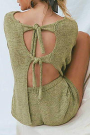 Allovely Backless Top & Shorts