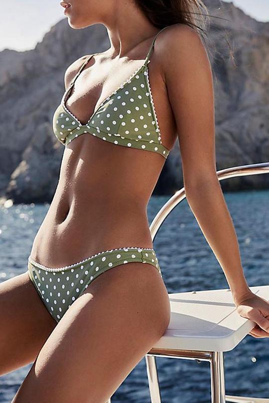 Allovely Low Rise Spotty Bikini